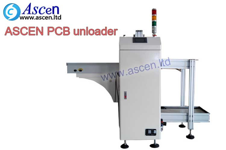 automatic SMT pcb unloader for SMT manufacturing from ASCEN technology