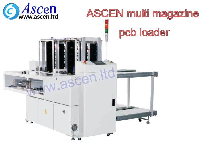 customized SMT PCB magazine unloader/online pcb unloader with multi track