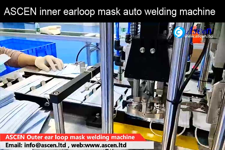 <b>Automatic mask welding machine for inner earloop mask</b>