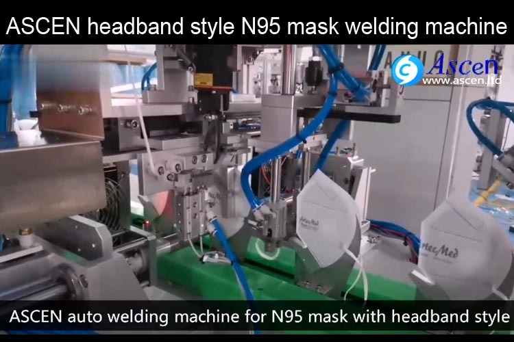 <b>Headband style head mounted N95 mask automatic welding machine </b>
