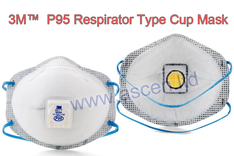 3M specialty respirators and Valved N95 cup style mask making machine
