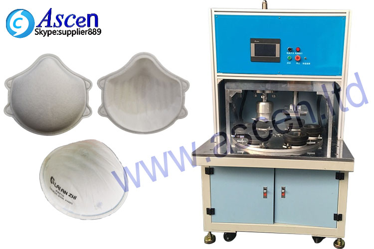 Cup styles mask ultrasonic welding cutting machine
