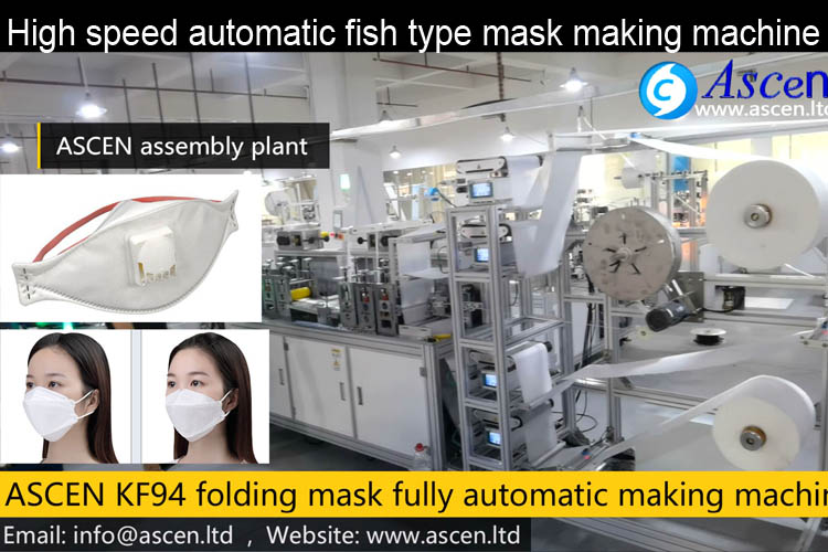 3M fish shaped folding mask making machine fully auto production line
