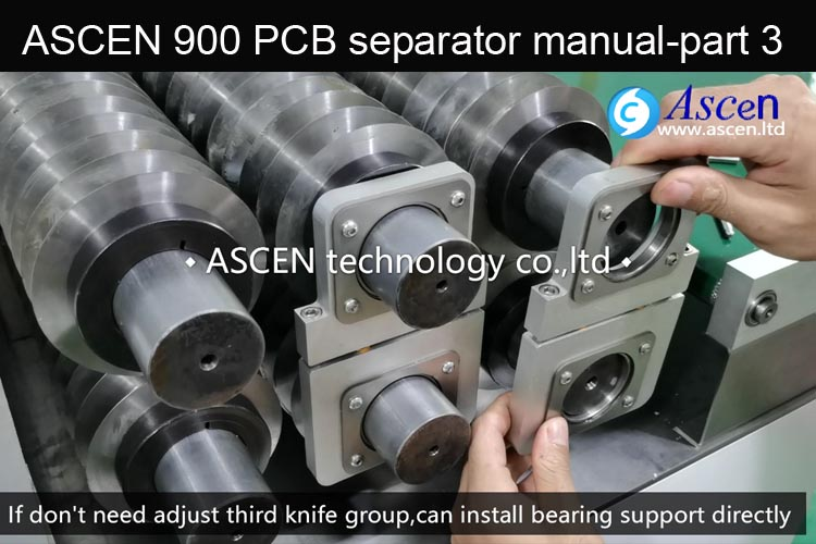 Adjust PCB cutting bear support of PCB depaneling machine