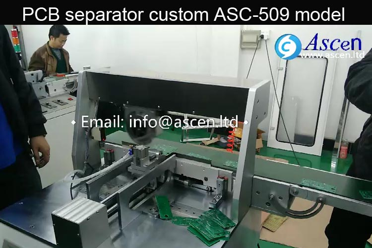 Motorized PCB depaneling V cutter machine automatic operation
