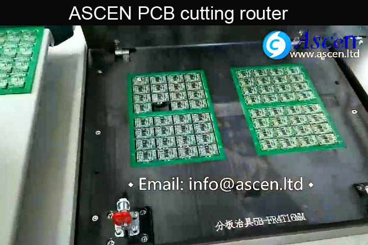 High speed PCB cutting router|double station PCB depaneling router