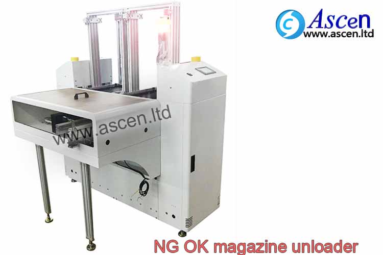 NG OK magazine PCB unloader connect AOI tester