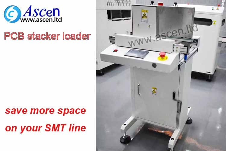 ASCEN manufacturer producing CE certified stack magazine loader and automatic loading PCB board on th