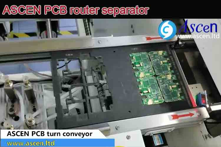 PCB rotation conveyor for 180 degree or 90 degree turning