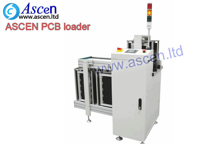 PCB magazine loader for LED assembly line