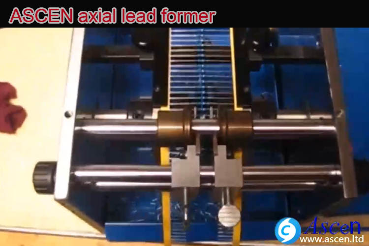 cut axial lead forming machine axial lead trimmer