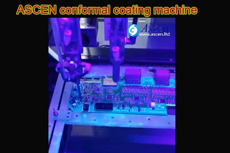 <b>Selective PCB conformal coating machine with UV spray</b>