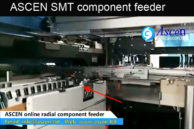 radial tape component feeder