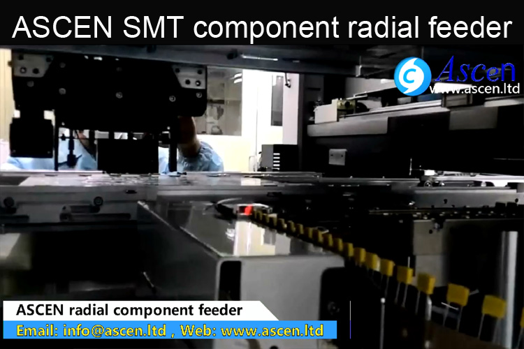 Radial component taped feeder
