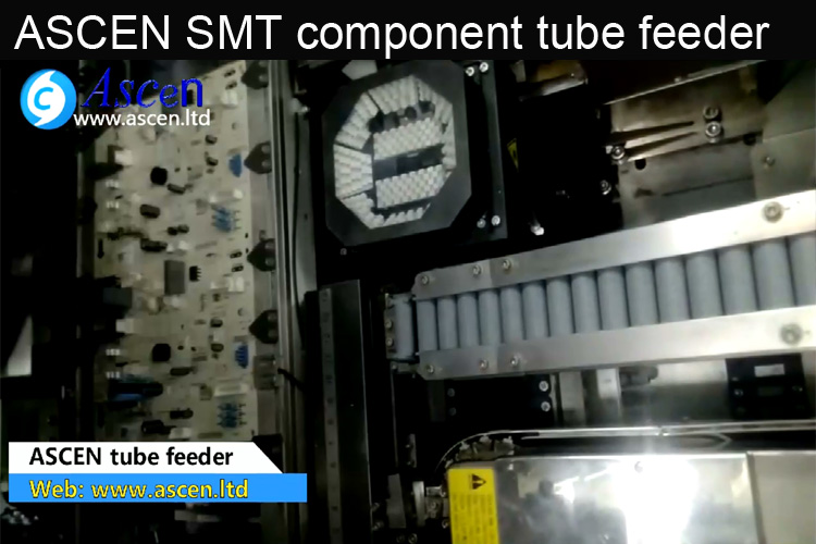DIP component tube feeder
