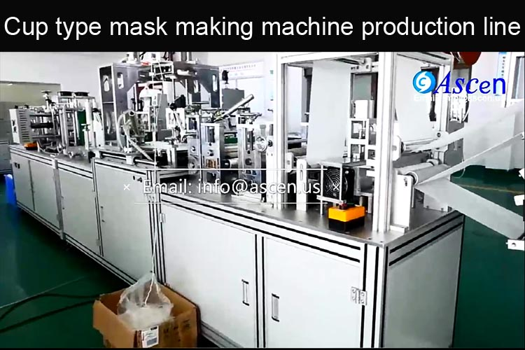 N95/EN149 cup type medical mask making machine production line