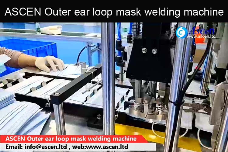 Automatic mask welding machine for outer ear loop mask