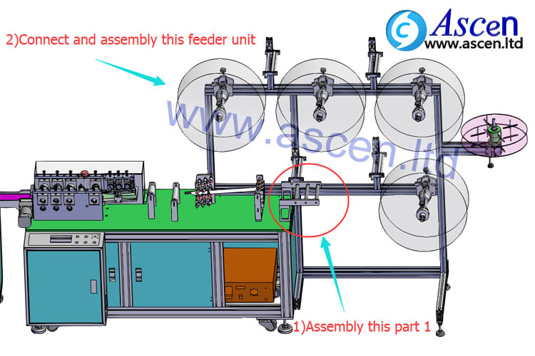 install mask forming machine