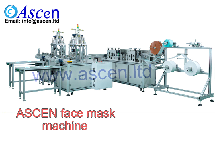 Fully automatic medical face mask machine