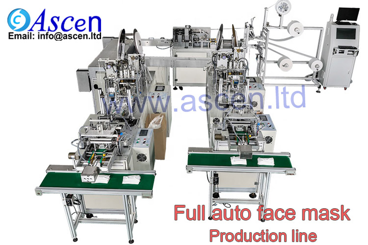 Ultrasonic welding mask production line