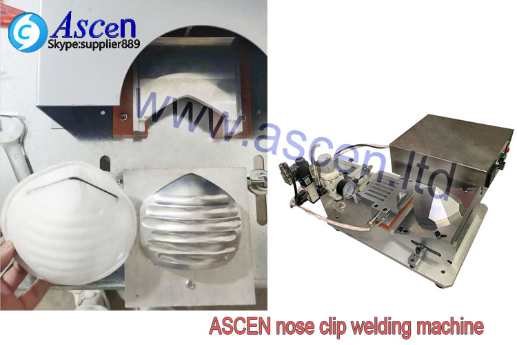 Cup style mask nose clip ultrasonic welding machine