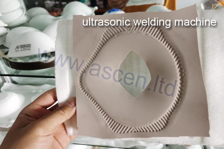 Ultrasonic welding machine for mask shape cutting|heat sealing