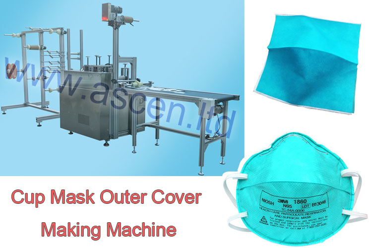 N95 cup mask covering making machine