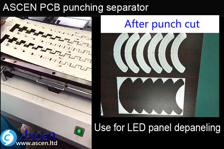 High speed depaneling PCB punching machine PCB separator