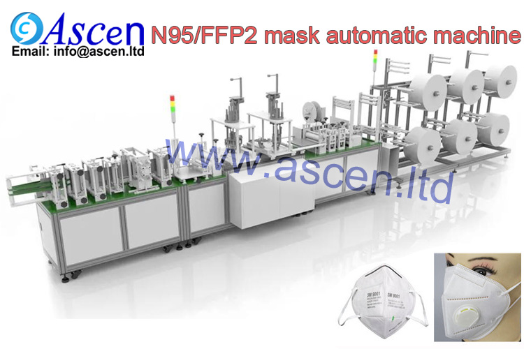 Fully auto N95 Respirator folded mask making machine FFP2 cup mask maker