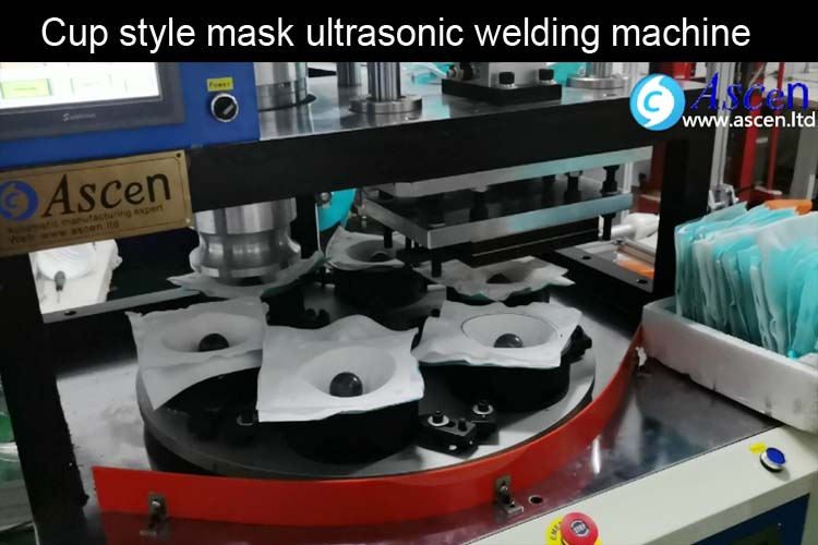 ASCEN automatic cup mask making welding machine ultrasonic welding cutting operation