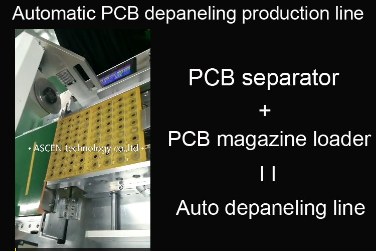 PCB separator PCB Depaneling Machinery connect PCB magazine loader